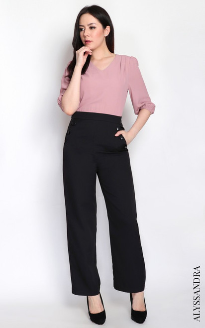 Duo Colour Jumpsuit - Dusty Rose