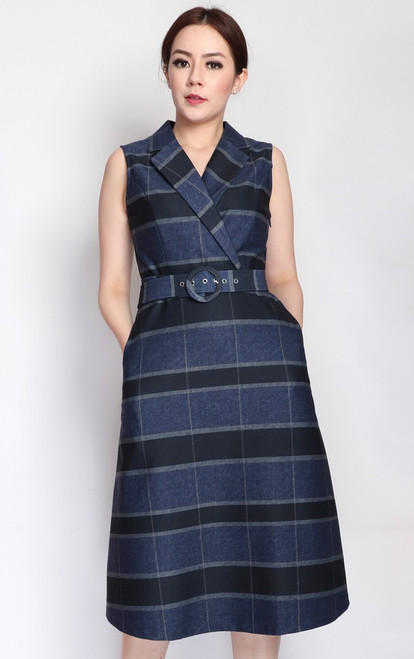 Checkered Trench Dress