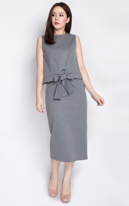 Dual Layer Dress - Heather Grey