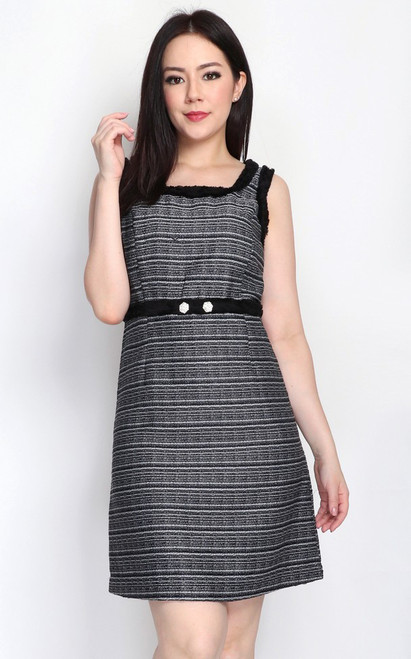 Tweed Empire Waist Dress