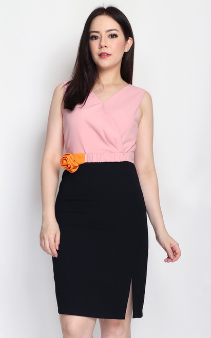 Duo Colour Pencil Dress