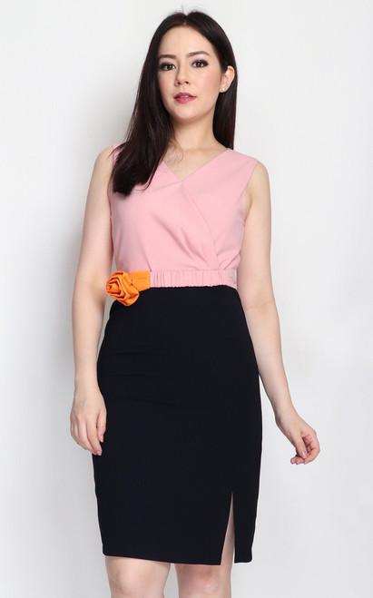 Duo Colour Pencil Dress