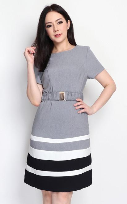 Colourblock Stripes Dress