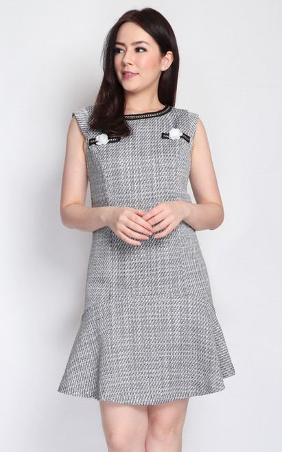Tweed Drop Waist Dress