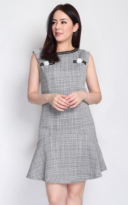 Tweed Drop Waist Dress