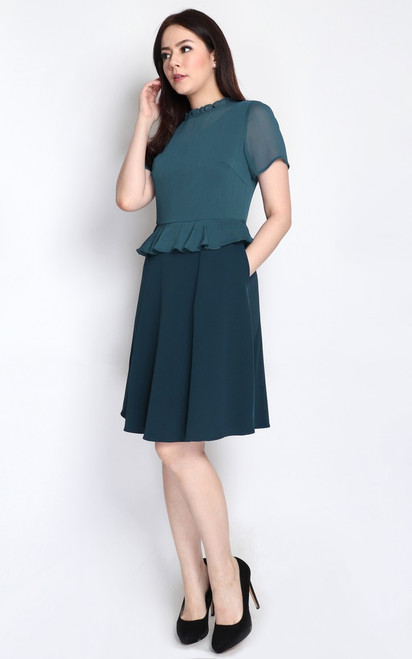 Chiffon Top Peplum Dress