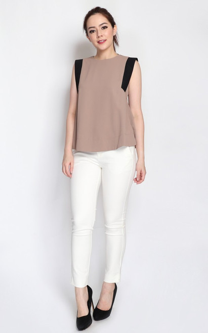 Contrast Panels Trapeze Top