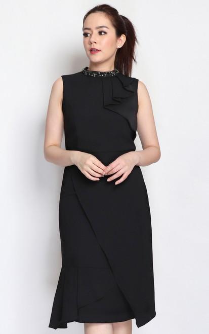 Bejewelled Origami Dress
