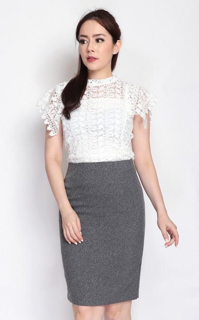 Crochet Lace Top - White