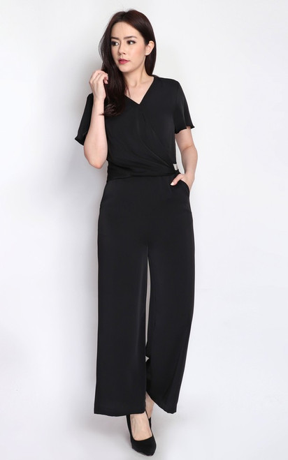 Draped Chain Jumpsuit