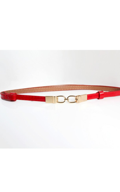 Thin Waist Belt - Red
