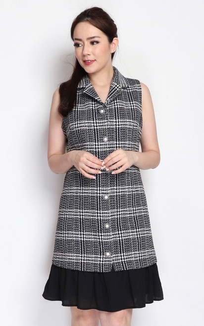 Tweed Buttons Dress