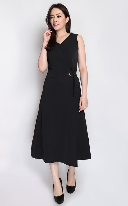 Wrapover Jumpsuit - Black