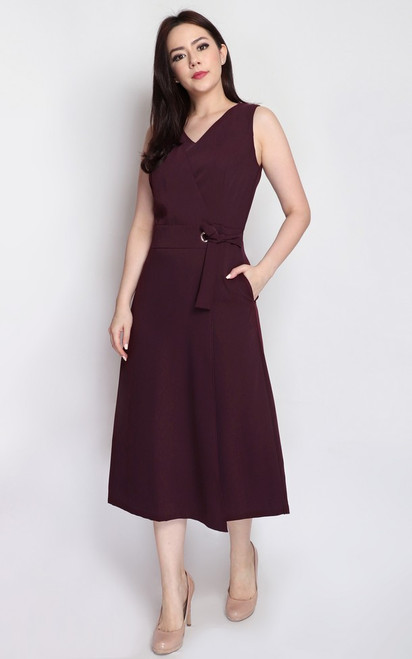 Wrapover Jumpsuit - Wine