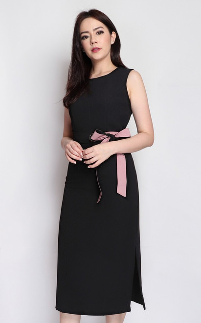 Side Tie Midi Dress