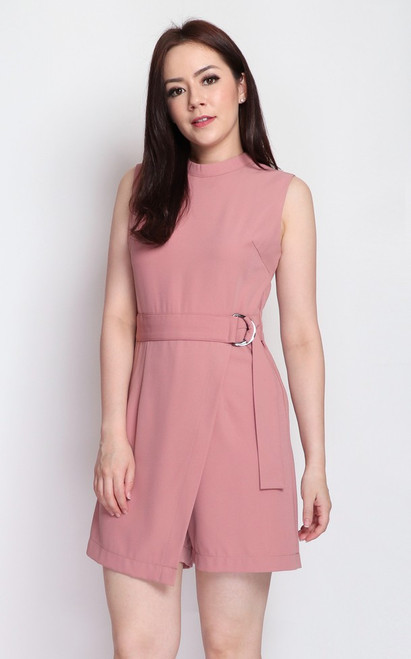 D-Ring Romper - Peach Pink