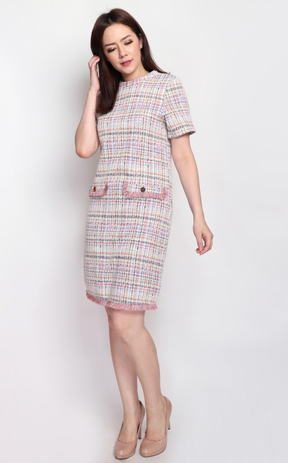 Tweed Shift Dress - Multi