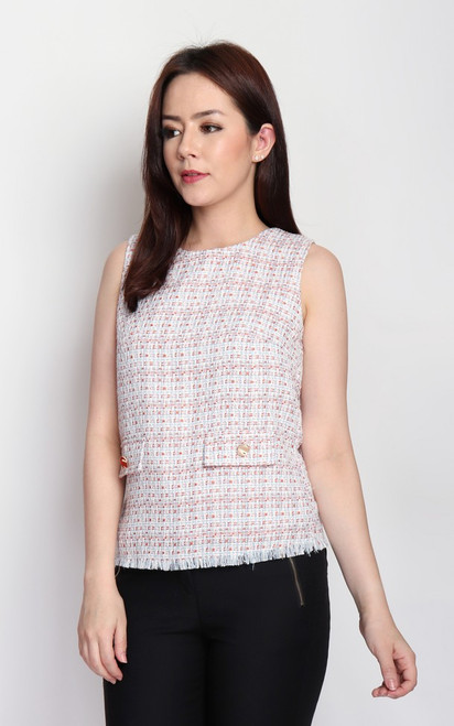 Tweed Top - Orange