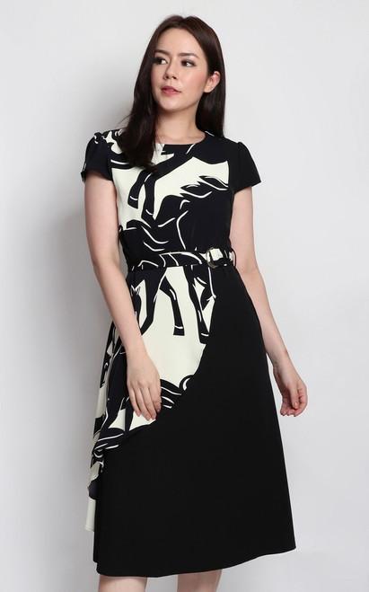 Monochrome Overlay Dress
