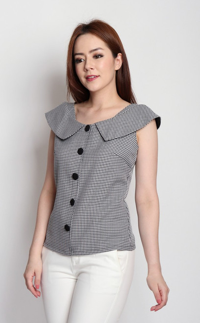Boat Neck Collared Top