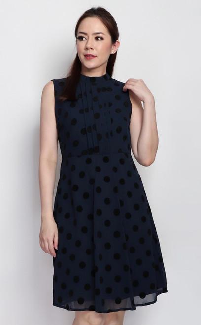 Velvet Polka Dots Dress