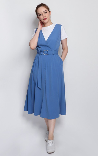 Pinafore Dress - Blue