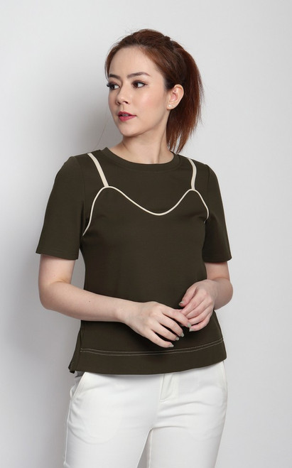 Contrast Trim Knit Tee
