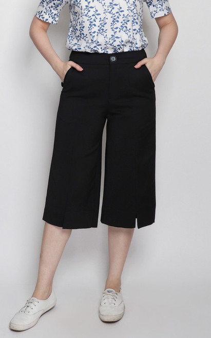 Center Seam Culottes - Black