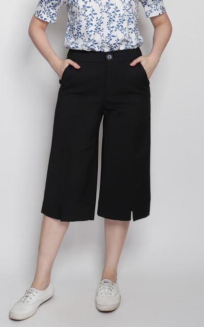 Center Seam Culottes - Black