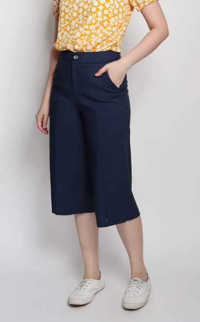 Center Seam Culottes - Navy