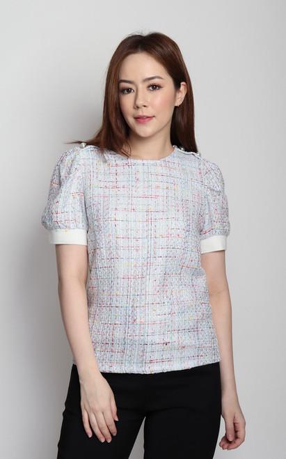 Multi-coloured Tweed Blouse