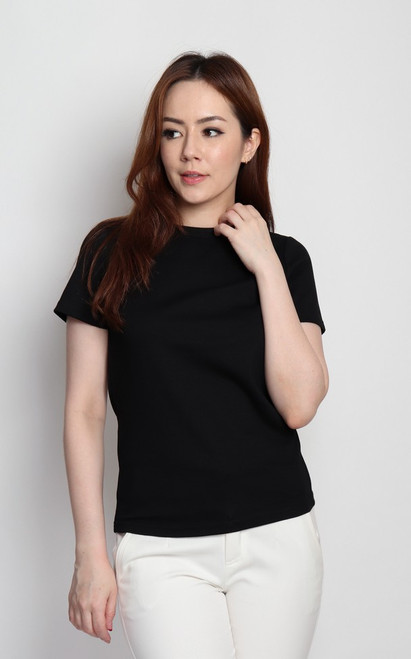 Basic Round Neck Tee - Black