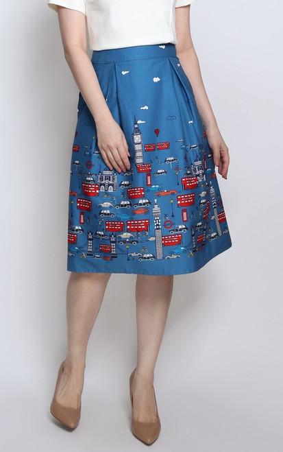 London City Printed Skirt