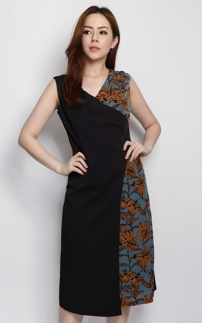 Contrast Overlap Dress