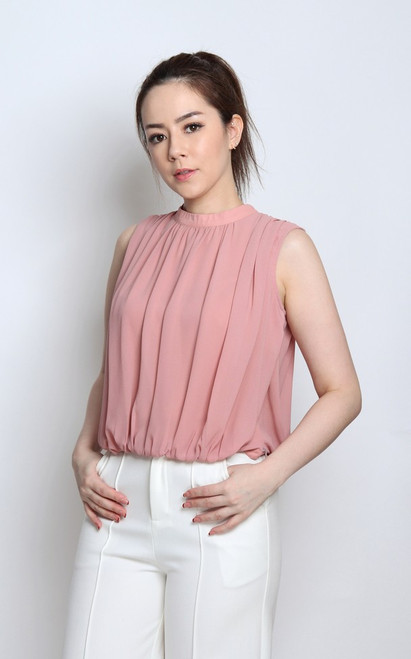 Blouson Top - Dusty Pink