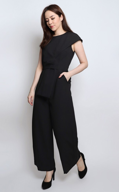 Origami Jumpsuit - Black