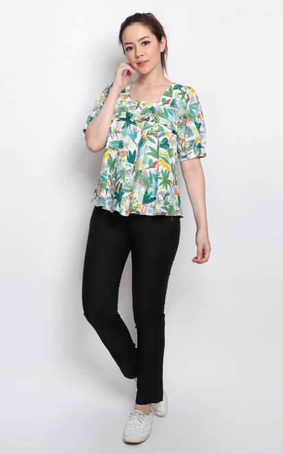 Tropical Paradise Top - White
