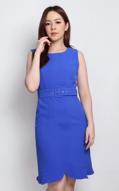 Mermaid Hem Dress - Cobalt Blue