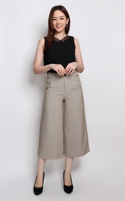 Wide Leg Culottes - Ecru