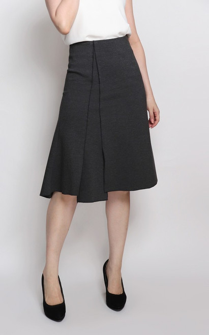 Asymmetrical Panelled A-line Skirt