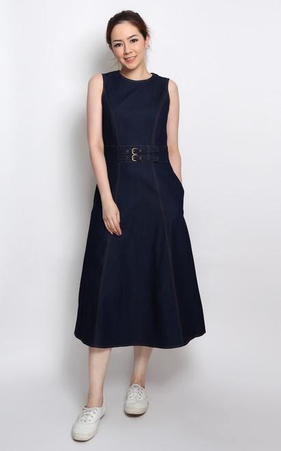 Denim Midi Dress