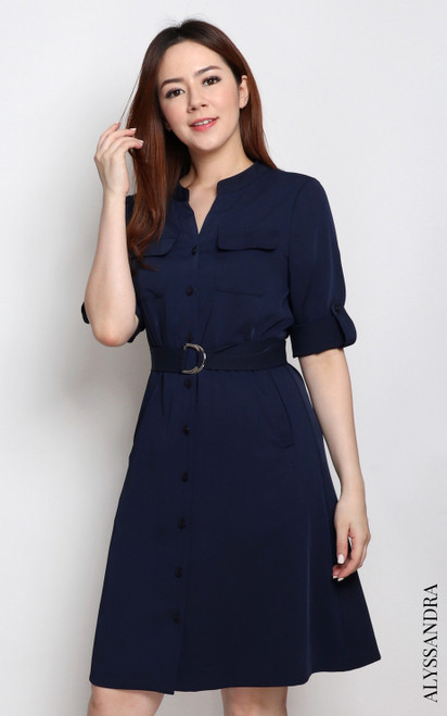 Utility Dress - Navy
