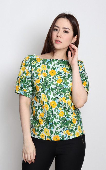 Spring Bloom Boatneck Top