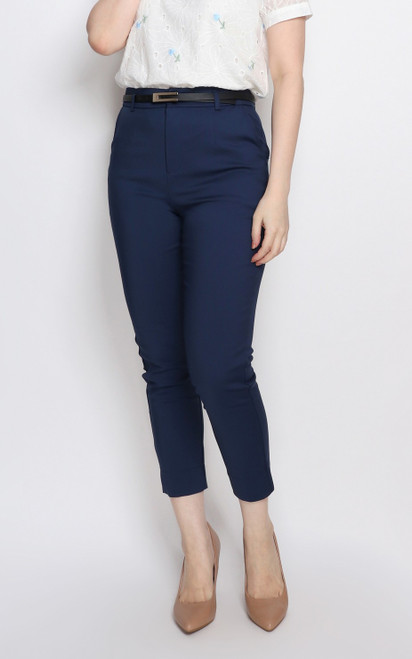 Cigarette Pants - Navy