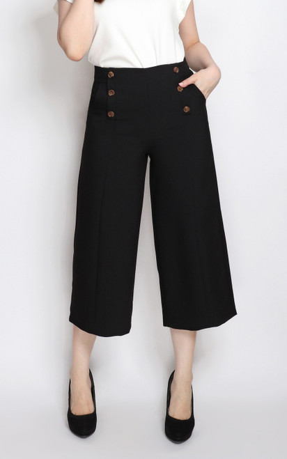 Buttons Culottes - Black