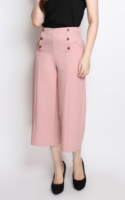 Buttons Culottes - Dusty Pink