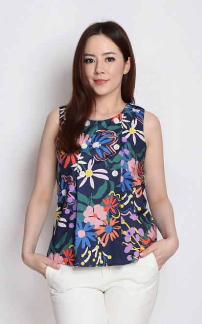Vibrant Floral Top