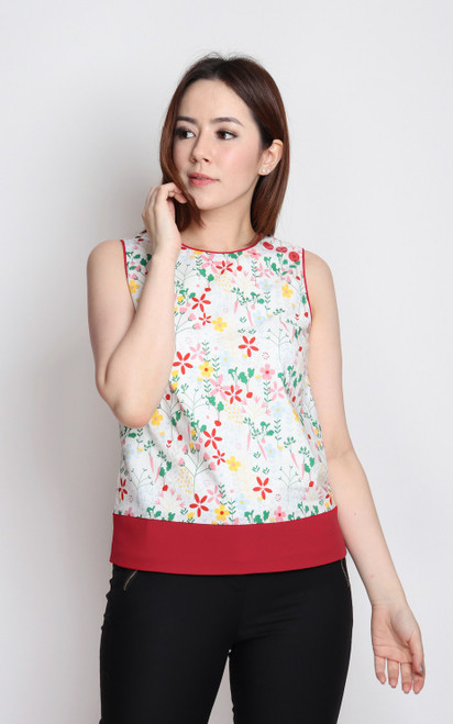 Floral Buttons Top