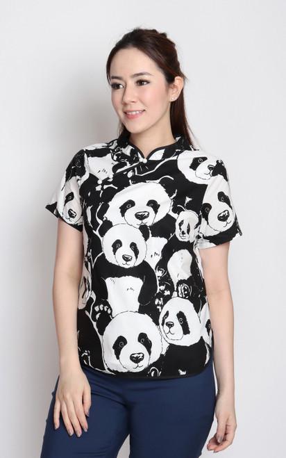 Panda Cheongsam Top