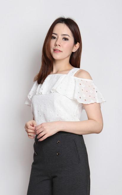 Off Shoulder Top - White